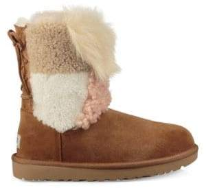UGG Classic Short Patchwork Fluff Shearling Boots
