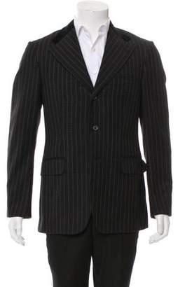 Gucci Velvet-Trimmed Wool Blazer