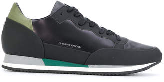 Philippe Model panelled lace-up sneakers