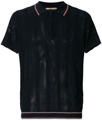 Nuur zipped neck polo shirt