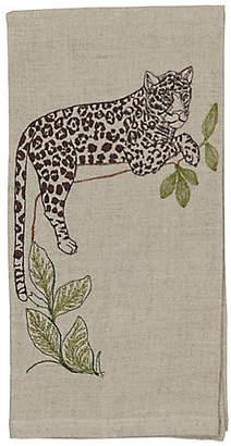 Coral & Tusk Jaguar Perch Tea Towel - Natural