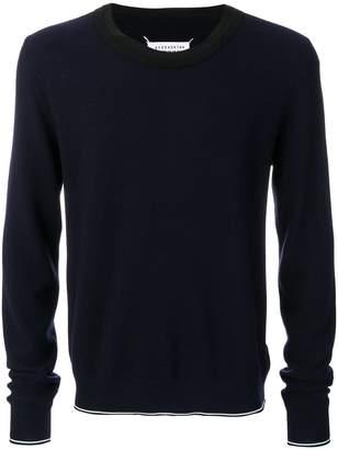 Maison Margiela contrast collar sweatshirt