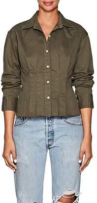 Current/Elliott Women's Tella Cotton Twill Pintuck Blouse