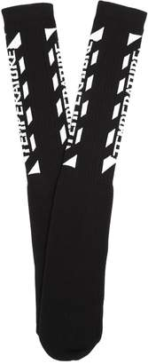 Off-White Temperature ribbed-knit socks