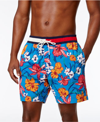 Tommy Hilfiger Men's Floral Swim Trunks $59.50 thestylecure.com