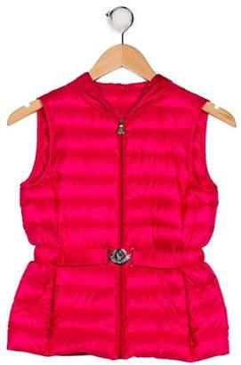 Moncler Girls' Nanee Gilet Hooded Vest