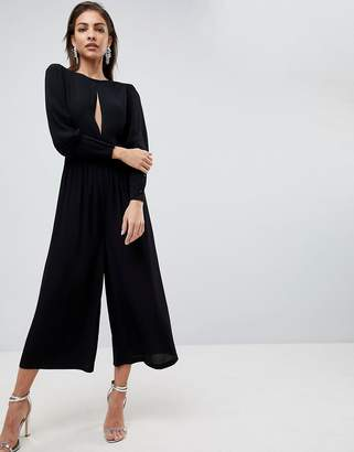 Asos 40's Tea Jumpsuit With Sleeve Detail