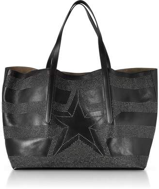 Jimmy Choo Pimlico Tao Large Black Leather Tote