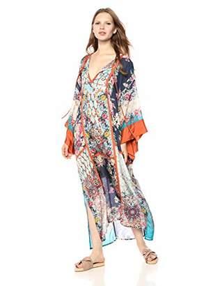 Johnny Was Women's Silk Kimono Dress