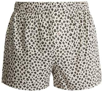 DRUTHERS Leopard boxer shorts