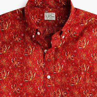 J.Crew Short-sleeve Secret Wash shirt in desert floral print