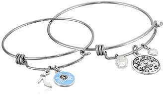"""Disney Mommy & Me Stainless Steel Catch Jewelry Sets Featuring """"Cinderella"""" Charms Bangle Bracelet"""