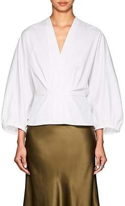 Narciso Rodriguez Women's Puff-Sleeve Cotton Poplin Blouse