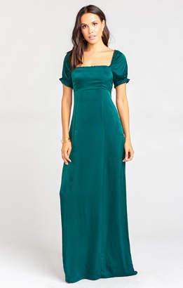 Show Me Your Mumu Brittany Maxi Dress ~ Dark Emerald Sheen