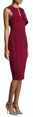 Shoshanna Sleeveless Ruffle Midi Dress