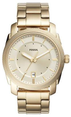 Fossil Chronograph Machine Goldtone Bracelet Watch