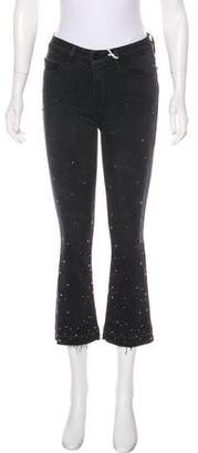 Frame Embellished Mid-Rise Jeans w/ Tags