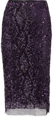 Tom Ford Sequined Cotton-blend Fishnet Pencil Skirt