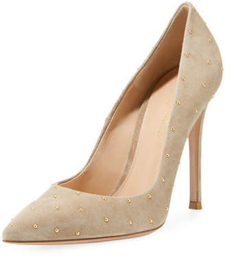 Gianvito Rossi Suede Studded 105mm Pumps