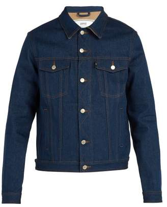 Ami Relaxed Fit Denim Jacket - Mens - Blue