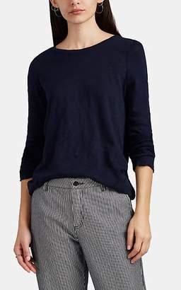 ATM Anthony Thomas Melillo Women's Slub Cotton Long-Sleeve T-Shirt - Dk. Blue