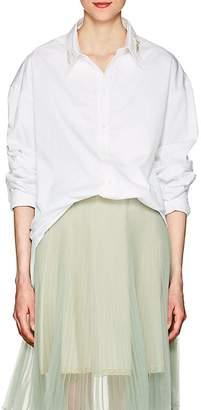 Y/Project Women's Beetle-Embellished Cotton Poplin Blouse