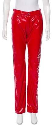 Fiorucci Mid-Rise Vegan Patent Leather Pants