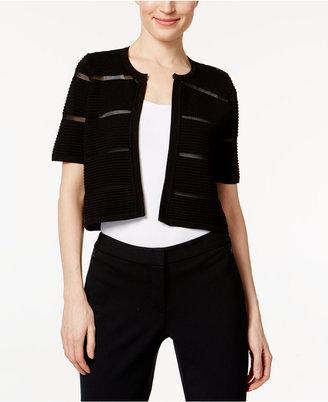 Calvin Klein Short-Sleeve Illusion-Inset Shrug $44.98 thestylecure.com