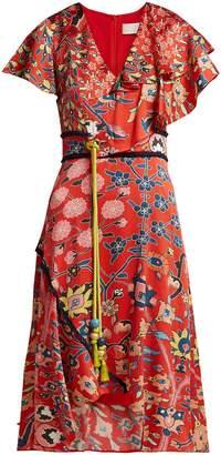 Peter Pilotto Floral-print stretch-silk dress