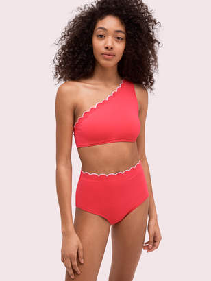 Kate Spade scallop wave high-waist bottom