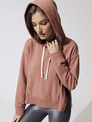 Monrow PULLOVER HOODY WITH SIDE SLITS