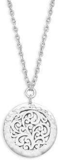 Lois Hill Classic Sterling Silver Geometric Pendant Necklace
