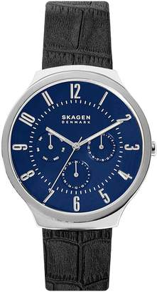 Skagen Grenen Leather Strap Watch, 38mm