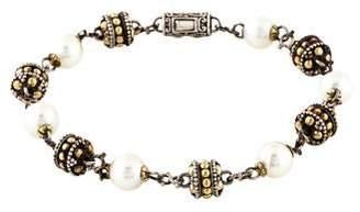 John Hardy Two-Tone Pearl Station Bracelet