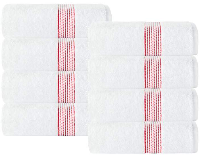 Turko Textile LLC Enchante Home Elegante 100% Turkish Cotton 8-piece Hand Towel Set