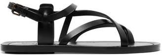 Saint Laurent Leather Sandals - Black