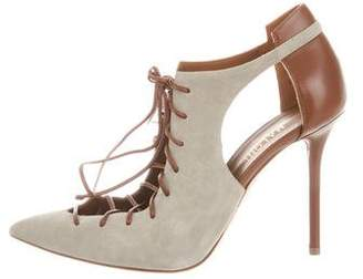 Malone Souliers Suede Lace-Up Pumps