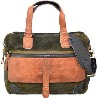 Vintage Addiction Suede & Leather Messenger Laptop Bag