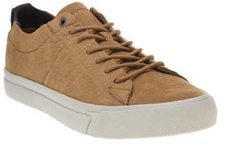Tommy Hilfiger New Mens Tan Dino Nubuck Trainers Retro Lace Up