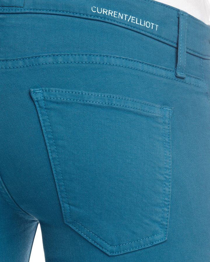 Current/Elliott Skinny Ankle Jeans, Blue Canteen