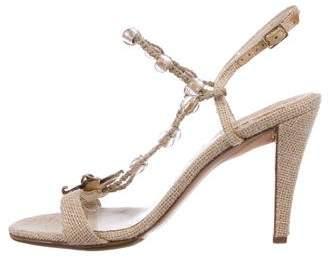 Salvatore Ferragamo Embellished Ankle Strap Sandals