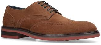Salvatore Ferragamo Suede Brewood Derby Shoes