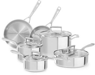KitchenAid Tri-Ply Stainless Steel 10-Piece Cookware Set - Induction Ready