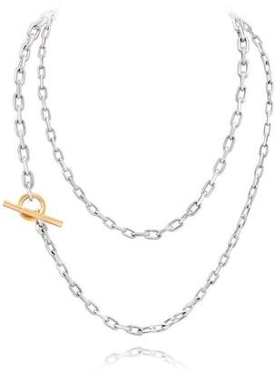 Walters Faith Saxon Two Tone 36 Chain Link Toggle Necklace
