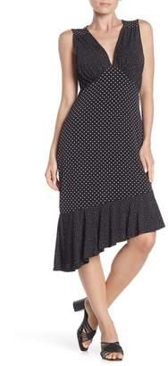 Leota Isabella V-Neck Ruffled Midi Dress