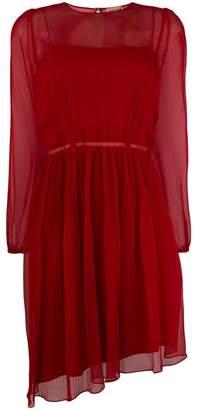No.21 silk plissé pleated dress
