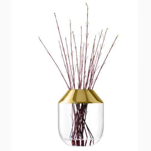 Vase Flower Space 39cm, goldfarben
