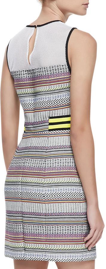 Rebecca Minkoff Frida Net-Top Patterned Dress