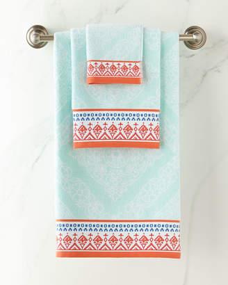 John Robshaw Mitta Seaglass Bath Towel