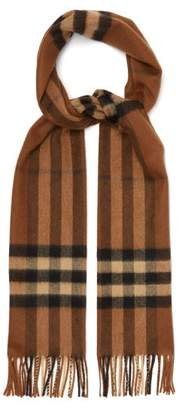 Burberry Classic Checked Cashmere Scarf - Mens - Brown